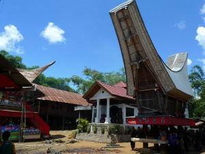 Maison dans les villages en Sulawesi