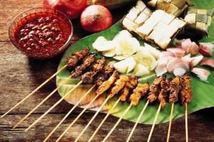 brochette de poulet indonésien